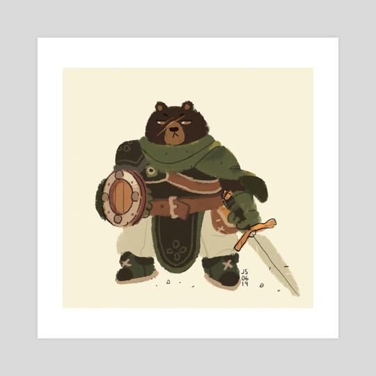Animal Adventurers - Bear Warrior by Jenn So