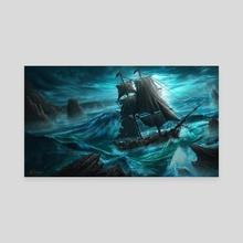Dangerous Seas - Canvas by Anthony Christou