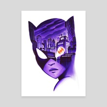 Catwoman Noir - Canvas by Veronica Fish