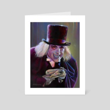 Lon Chaney - The Man in the Beaver Hat - Art Card by David Robinson