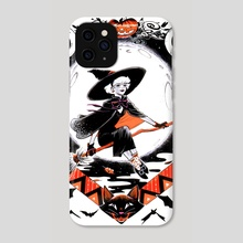 Vintage Halloween Sabrina The TeenAge Witch - Phone Case by Veronica Fish