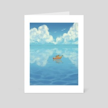 Can the Fish Hear? - Art Card by Freddie O'Brion