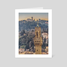 Aerial View Florence, Italy - Art Card by Daniel Ferreira Leites