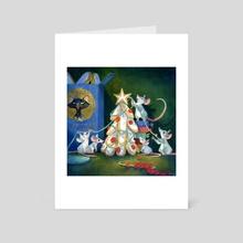 Christmas tree - Art Card by Marjolaine Roller