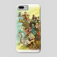 Ghibli Homage - Phone Case by Annie Stoll