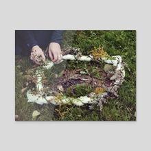 Dead Fox Memorial  - Acrylic by lindsay tripp