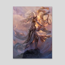 Serra the Benevolent - Acrylic by Magali Villeneuve