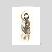 Gold Fashion - Art Card by David Celli