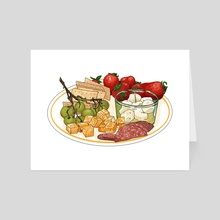 Snack plate - Art Card by Shane Tolentino