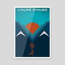 L'Alpe D'huez - Acrylic by Jeremy Harnell