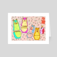 CAT PACK - Art Card by Tarantuga