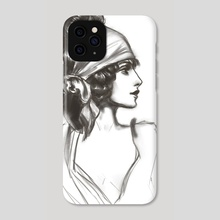 Vintage Girl #1 - Phone Case by Christy Tortland