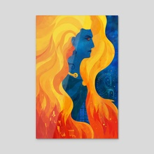 Boudica - Acrylic by Carly A-F