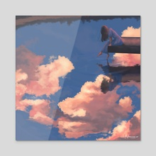 My Lost Self - Acrylic by Angel Elisha