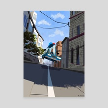 Jump - Canvas by Hugo Barret Castan
