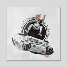 Kick Flip! - Acrylic by Etubi Onucheyo