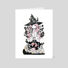 hydroponic witch - Art Card by koyamori