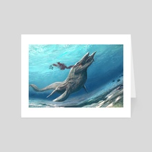 Tylosaurus - Art Card by Sammy Hall