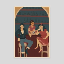 50s girls- bar - Canvas by HY Leng