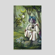 White Mage and the Sylph - Canvas by Amy Gerardy