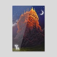 Kingdom of the clouds - Acrylic by Roberto Nieto