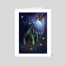 Night of the Fireflies  - Art Card by Harrison Pyle