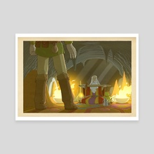 The Legend of Zelda - The Cave Sage - Canvas by Bill Mudron