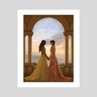 Sunset Lovers - Art Print by Becky Hall