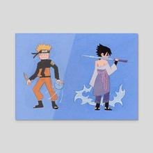 Naruto and Sasuke  - Acrylic by Jesse Naguib