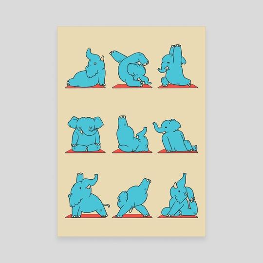 Elephant Yoga by huebucket