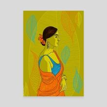 Six yards of pure grace 05 - Canvas by Dhanashree Pimputkar