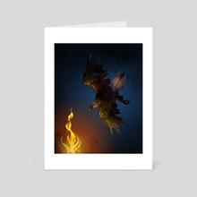 Eagle Seeks Flame - Art Card by Katherine Hahn