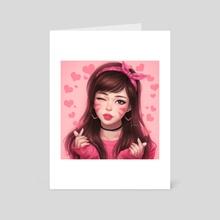 Heart D.va - Art Card by KAI (umigraphics)
