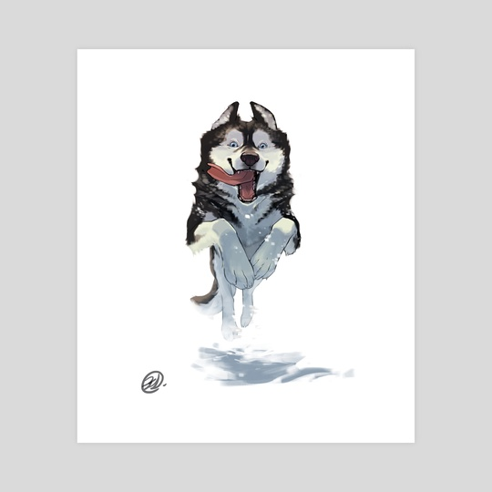 Dog Series - Husky by Elisa Kwon