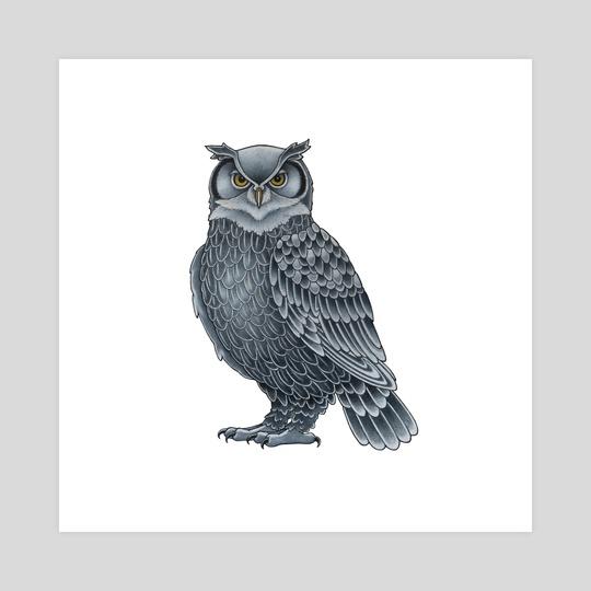 Grey Owl by Adam Lindsay Honsinger