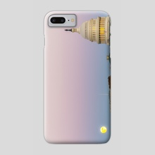Sunrise Moon - Phone Case by Alex Tonetti