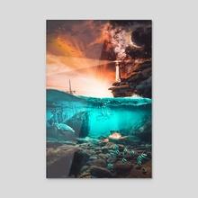 Underwater treasure - Acrylic by Damir  Orihan