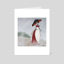 Vampire at the Beach - Art Card by Jenna Gray