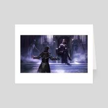 Jace begging Liliana - Art Card by Mathias Kollros