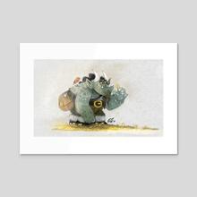 The little friend - Acrylic by Otat
