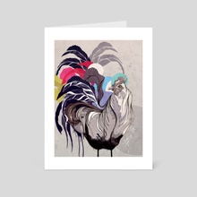 Party Rooster - Art Card by Sara Blake