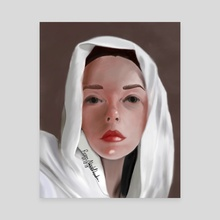 The white veil  - Canvas by Reem Abdelbadie