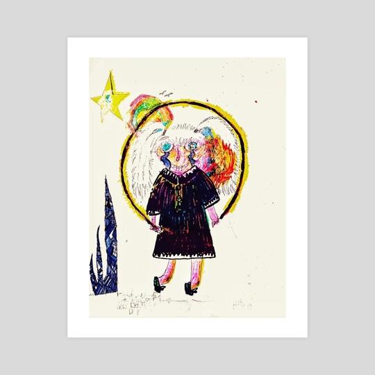 A little girl having fun (early version) by Tamara O