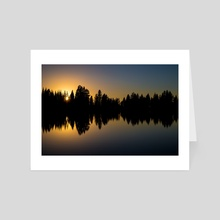 Nature's Mirror - Art Card by Brian Fisher