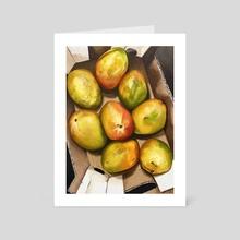 fresh mangoes - Art Card by amy yang