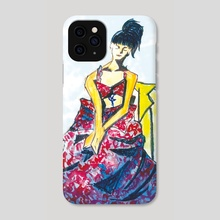 Pensive - Phone Case by Vii Yu