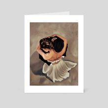 The embrace  - Art Card by Reem Abdelbadie