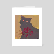 Red Sneakers and a Grey Cat_teaser - Art Card by Konstantin Valikov