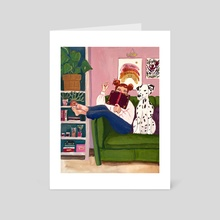 Cozy time at home - Art Card by Johanne Weilbrenner