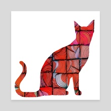 Quilted Cat - Canvas by Brontosaurus Art